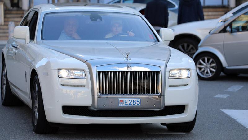 Luxury White Rolls-Royce
